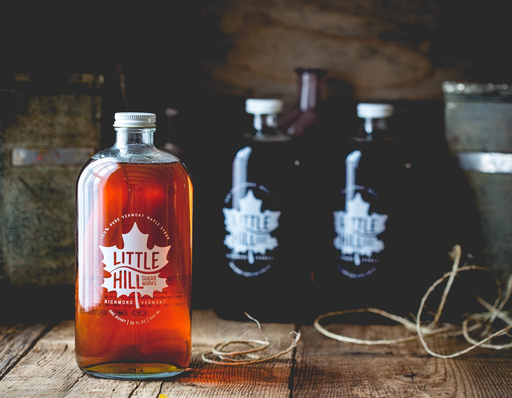 Craft Made Small Batch Pure Vermont Maple Syrup Little Hill Sugarworks, Richmond Vermont, by Jason and Katie Webster