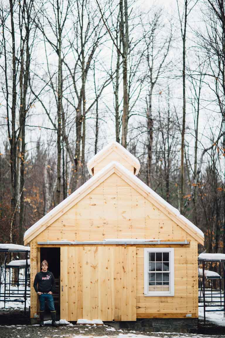 Little Hill Sugarworks - the sugar house and Jason Webster _ Winter 2017