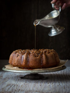subbing maple syrup in a recipe | Bananas Foster Bundt Cake by Katie Webster | Little Hill Sugarworks