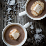 sugaring season hot cocoa sweetened with pure maple syrup on Little Hill Sugar Works by Katie Webster